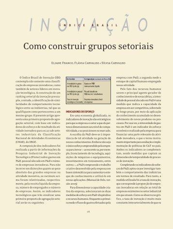 Como construir grupos setoriais - Labjor - Unicamp