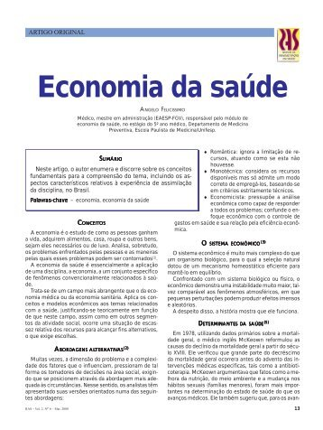Economia da saúde - CQH