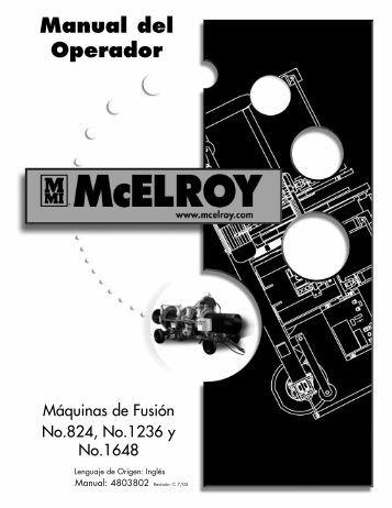 Manual del Operador - McElroy Manufacturing, Inc.