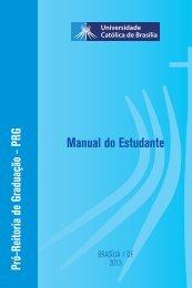Manual do Estudante - Universidade Católica de Brasília