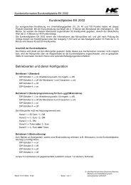 Eurokreditplatine EK 2002 Betriebsarten und deren Konfiguration