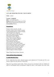 Acta Ple octubre - CiU