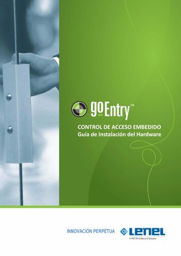 Configuración del Hardware - goEntry - Lenel