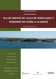 pla de gestió de l'illa de portlligat i diagnosi de flora a la badia - UdG
