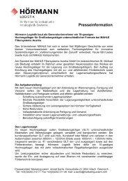 Presseinformation - Hörmann Logistik GmbH