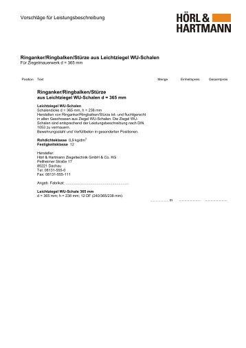 Vorschläge für Leistungsbeschreibung Ringanker/Ringbalken ...