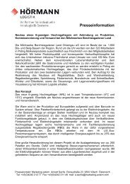 Berchtesgadener Land (Download PDF) - Hörmann Logistik GmbH