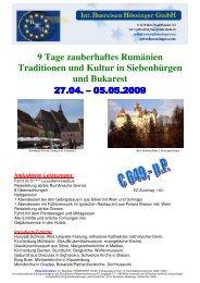9 Tage zauberhaftes Rumänien Traditionen und Kultur in ...