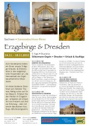 Erzgebirge & Dresden - Hoffmann Reisen