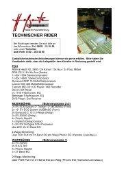 Download PDF Technikliste/Technischer Rider - Hofgarten Kabarett