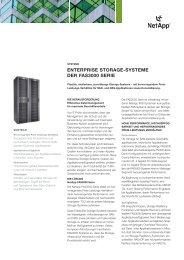 ENTERPRISE STORAGE-SYSTEME DER FAS3000 SERIE