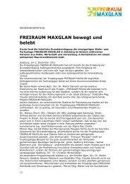 FREIRAUM MAXGLAN bewegt und belebt