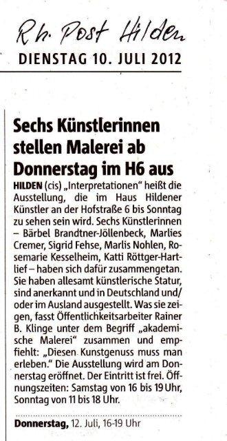 €/,,/ot/ #Ha- - Haus Hildener Künstler