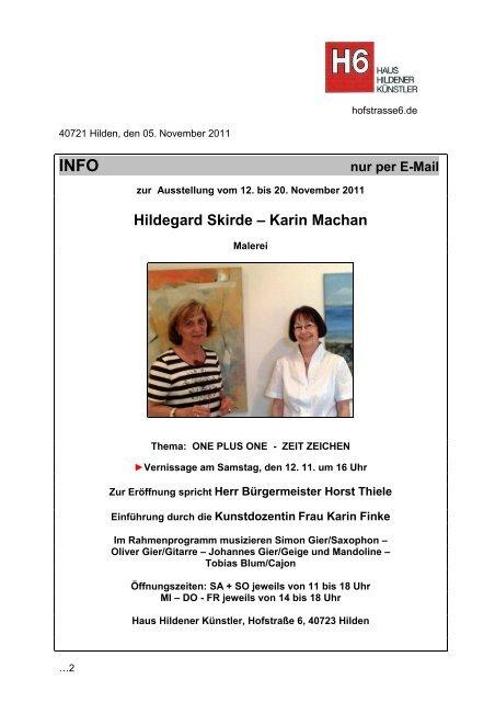 INFO - Haus Hildener Künstler