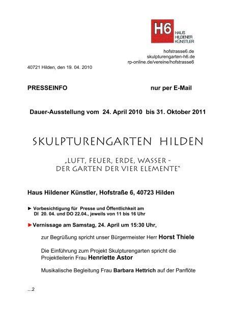 Skulpturengarten Hilden - Haus Hildener Künstler