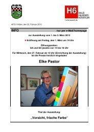 Elke Pastor - Haus Hildener Künstler