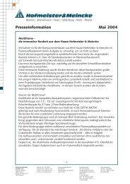 Presseinfo als PDF - Hofmeister & Meincke