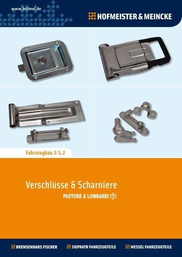 Verschlüße & Scharniere - Pastore & Lombardi - Hofmeister & Meincke
