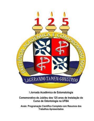 I Jornada Acadêmica de Estomatologia Comemorativa do Jubileu ...