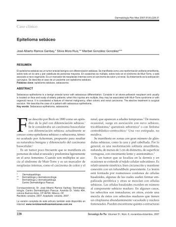 Epitelioma sebáceo Caso clínico - Revistas Médicas Mexicanas