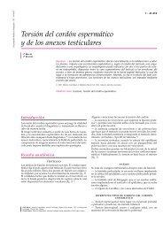 Torsión del cordón espermático y de los anexos testiculares - cinco