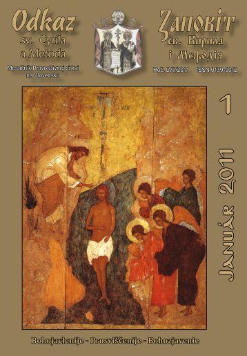 Január - Mesačník Odkaz sv. Cyrila a Metoda