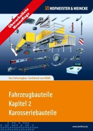 Fahrzeugbauteile Kapitel 2 Karosseriebauteile - HOF-MEI-KO