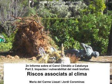 Riscos associats al clima - Generalitat de Catalunya