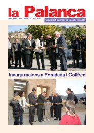 Inauguracions a Foradada i Collfred - La Palanca