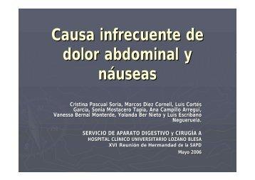 Causa infrecuente de dolor abdominal y náuseas - Sociedad ...