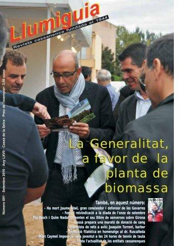 La Generalitat, a favor de la planta de biomassa La ... - Cassà Digital
