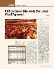 XXX Certamen Literari de Sant Jordi Vila d'Agramunt - Revista Sió