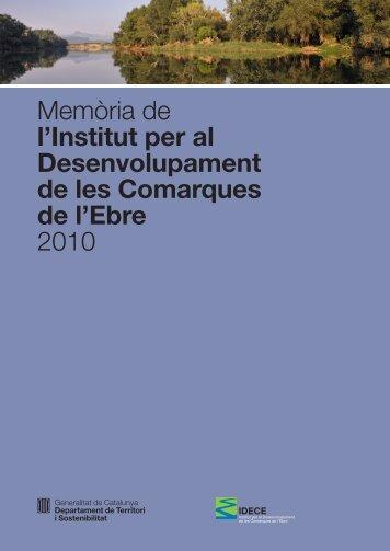 Memòria 2010 - Idece