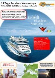 AIDAsol 10.09.-22.09.2012 Rund um Westeuropa - Holdenried Reisen