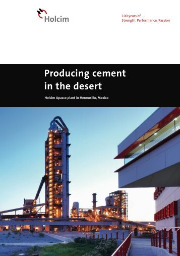 Producing cement in the desert - Holcim Foundation for Sustainable ...