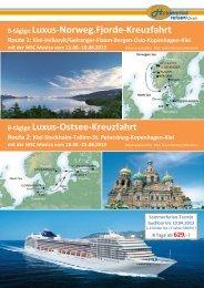 8-tägige Luxus-Ostsee-Kreuzfahrt 8-tägige Luxus-Norweg.Fjorde ...