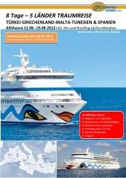 8 tätige Erlebniskreuzfahrt mit dem bekannten Clubschiff AIDA VITA