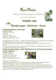 Karin Holleis Wanderungen - Seminare – Kurse - Holleis-balance.de