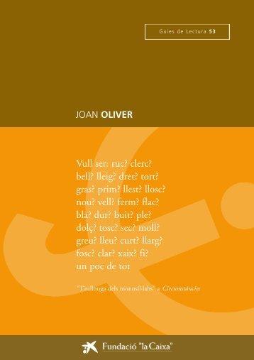 """Oliver, Joan - Obra Social """"la Caixa"""""""
