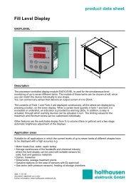 Fill Level Display EASYLEVEL - holthausen elektronik GmbH