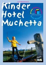 Kinderhotel Muchetta Wiesen Davos - Hotelprospekt