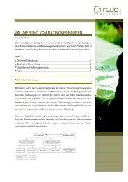 VALIDIERUNG VON RATINGVERFAHREN - 1 PLUS i GmbH