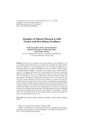 Dynamics of Mineral Nitrogen in Soils Treated with Slow-Release ...