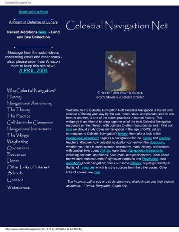 Celestial Navigation Net - ZetaTalk