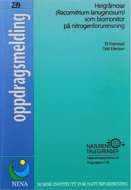 Heigråmose som biomonitor på nitrognforurensning - NINA