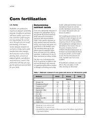 Corn Fertilization (UWEX A3340) - Department of Soil Science ...