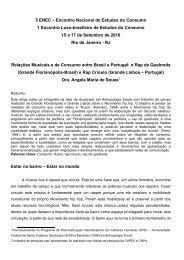 Relações Musicais e de Consumo entre Brasil e - Estudos do ...