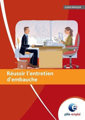 Guide pratique Réussir l'entretien d'embauche ... - Carrefour Emploi