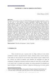sainsbury ea tese da imersão lingüística - cchla - UFRN