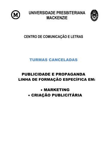 Publicidade e Propaganda - Universidade Presbiteriana Mackenzie
